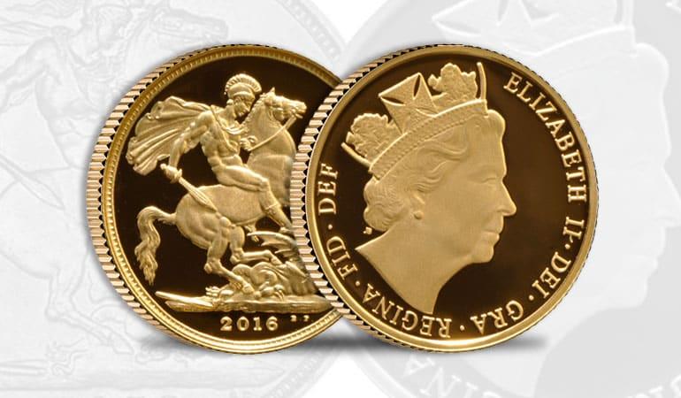 sterlina oro 90° Compleanno Elisabetta II