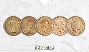 Sterline d'oro Elisabetta II