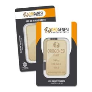 Lingotto d'Oro 100 Grammi