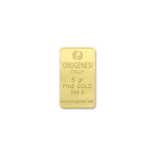 Lingotto d'oro 5 grammi - fronte