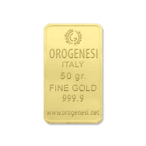 Lingotto d'Oro 50 Grammi - fronte