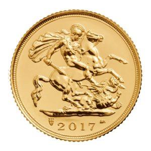 Mezza Sterlina d'Oro 2017 retro