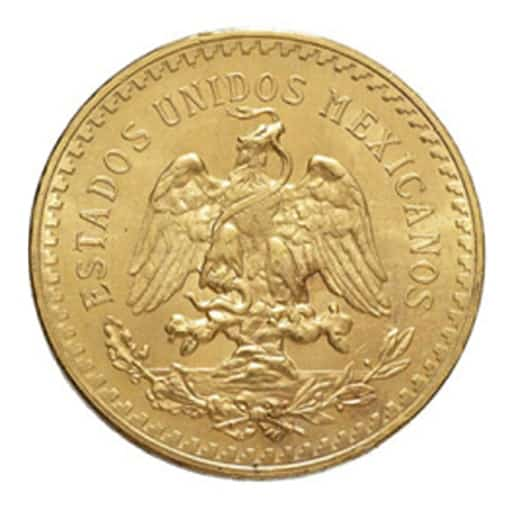 50 Pesos Messicani Oro - retro