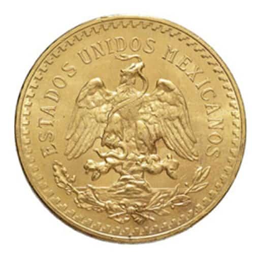50 Pesos Messicani Oro - retro