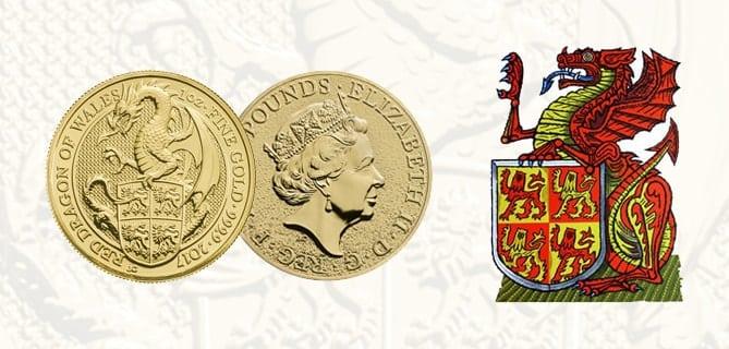 Queen's Beast Drago Rosso del Galles
