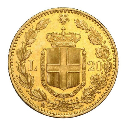 Marengo Italiano 20 lire retro