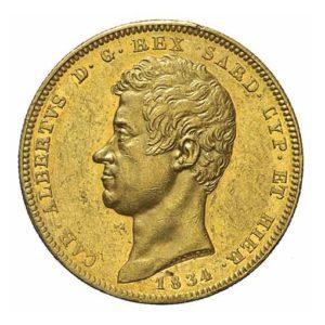 100 Lire Oro Carlo Alberto