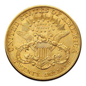 20 Dollari Americani Liberty Head - retro