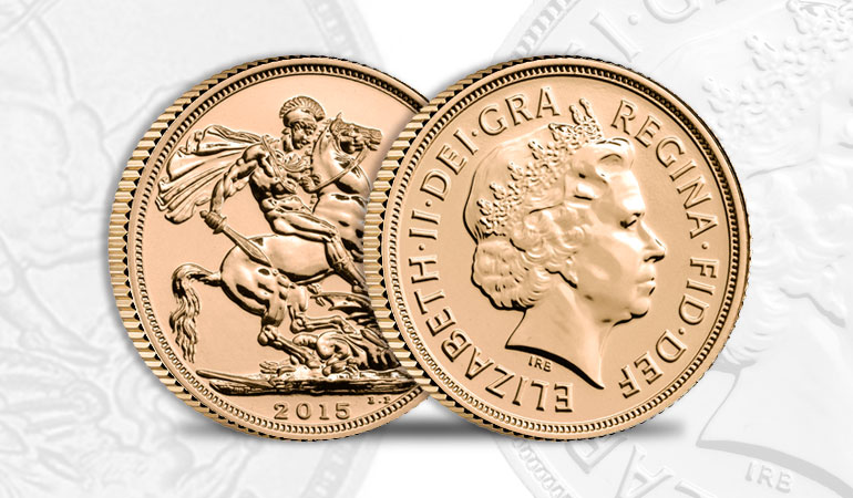 Sterlina Oro regina Elisabetta - Diadema