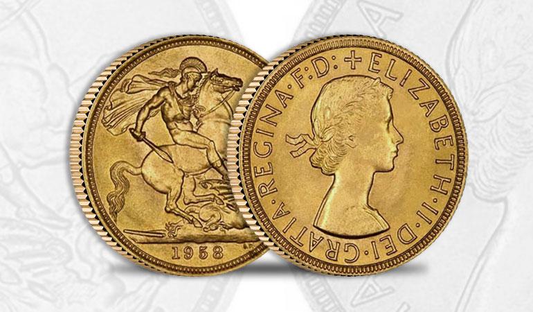 Sterlina Oro Regina Elisabetta - Fiocco
