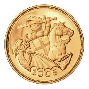 sterlina oro 2005 nuovo s giorgio