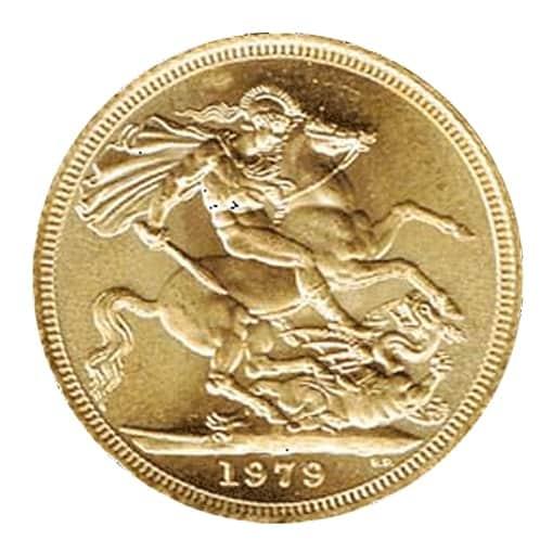 Sterlina d'oro Cononcina - retro