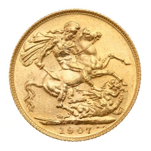 Sterlina d'Oro Edoardo VII - retro