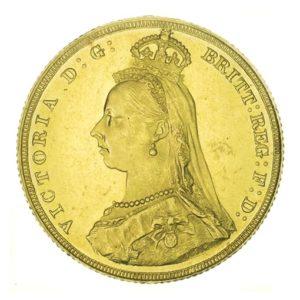 Sterlina oro Regina Vittoria Giubileo