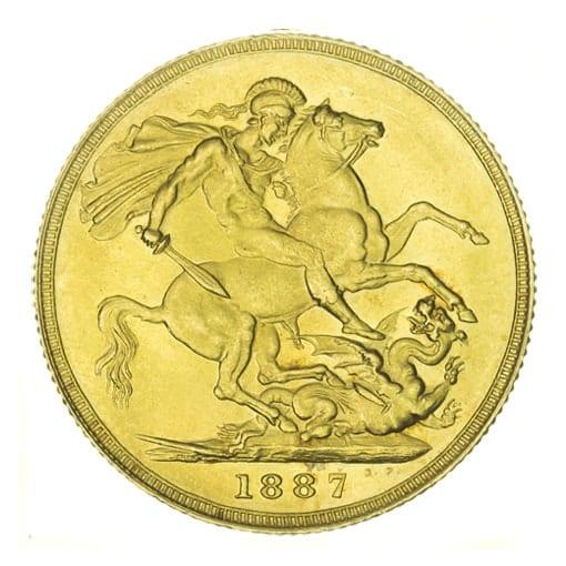 Sterlina oro Regina Vittoria Giubileo - retro