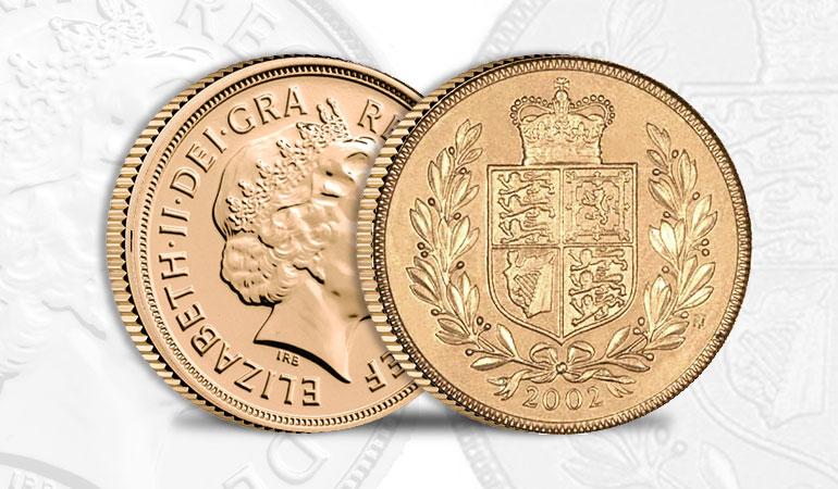 Sterlina Oro 2002 Scudo Coronato