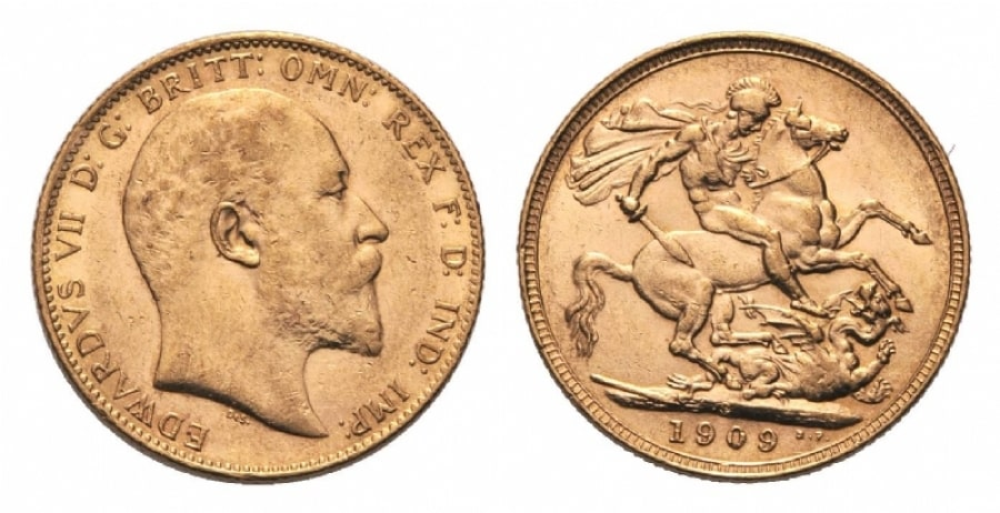 Sterlina d 39 oro edoardo vii moneta con pi produzione for Edoardo viii del regno unito