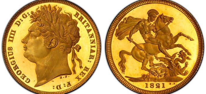 Sterlina d'oro Giorgio IV
