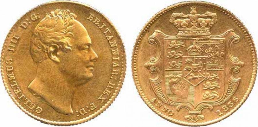 Sterlina d'oro Guglielmo IV