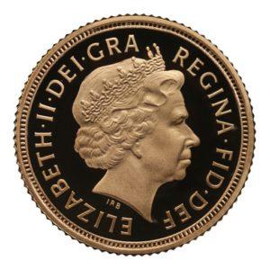 Mezza sterlina oro 2005 nuovo s giorgio proof