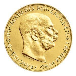 100 Corone d'Oro Austria - Fronte