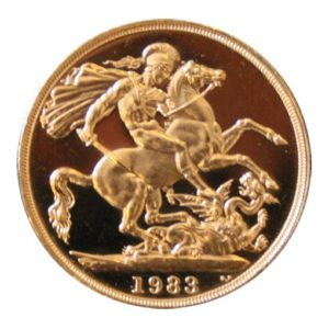 2 Sterline Oro 1983 Proof- retro