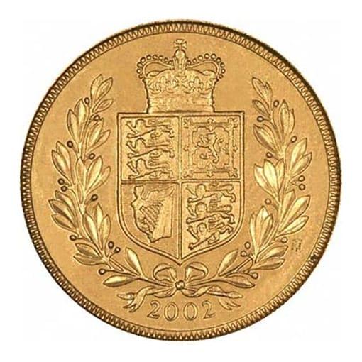 sterlina d'oro 2002
