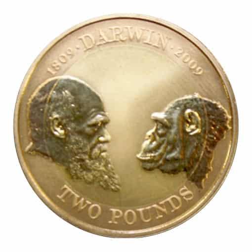 2 sterline d'Oro 2009 Darwin