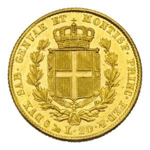 20 Lire oro Carlo Alberto