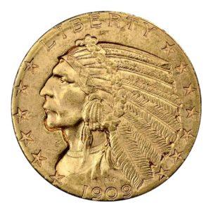 5 Dollari oro Pratt - Indiano