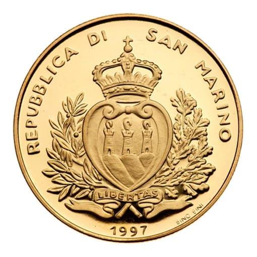 5 scudi 1997 San Marino Annunciazione - retro