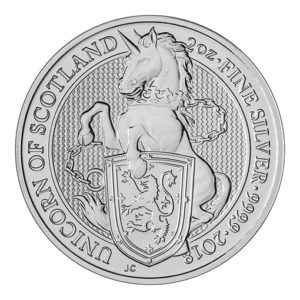Queens Beast Argento Unicorno - 2018 - 2oz