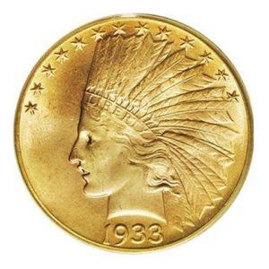 10 Dollari oro - Testa Indiana