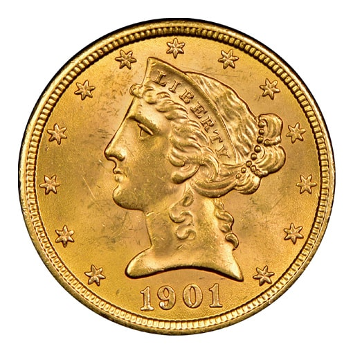 5 dollari liberty head