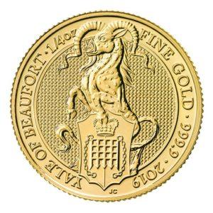 Queen's Beast Yale Oro - 1/4 oz