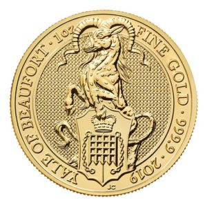 Queen's Beast Yale Oro - 1 oz