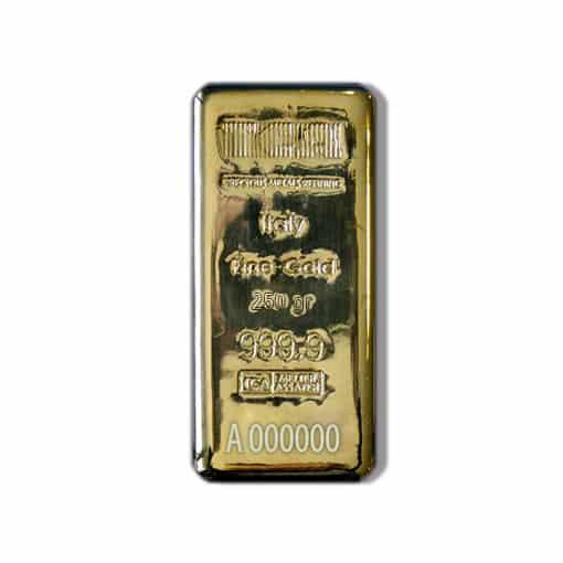 lingotto oro 250 gr lbma
