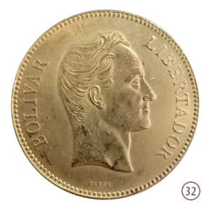 100 Bolivares 1886