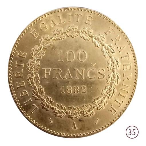 100 franchi oro