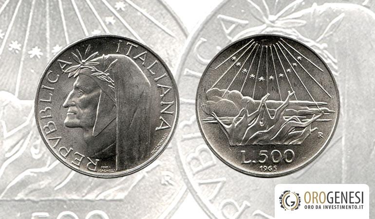 500 lire argento - Dante Alighieri