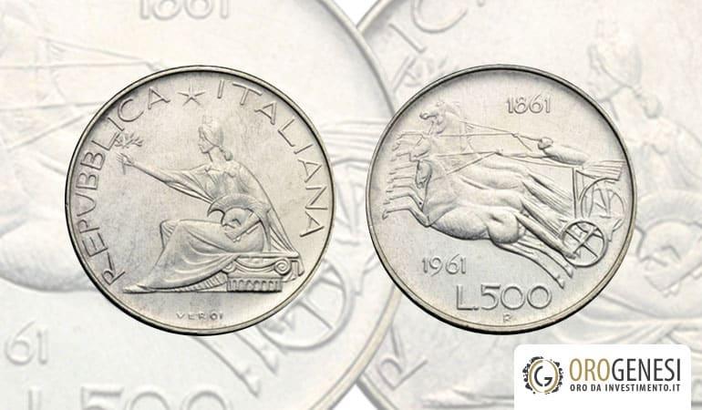 500 lire argento - unità d'italia