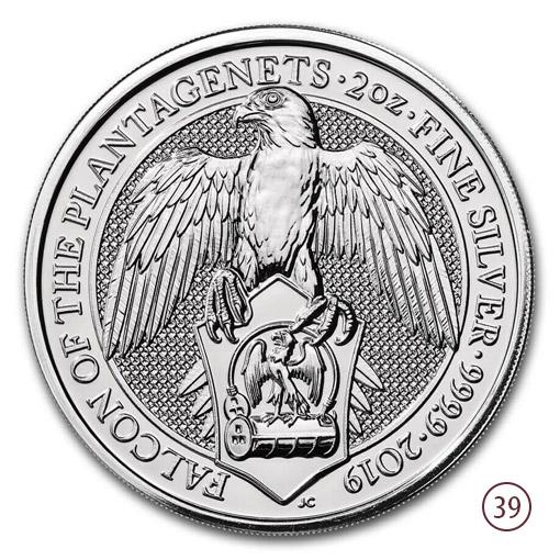 Queen Beasts Falco Oro 2oz
