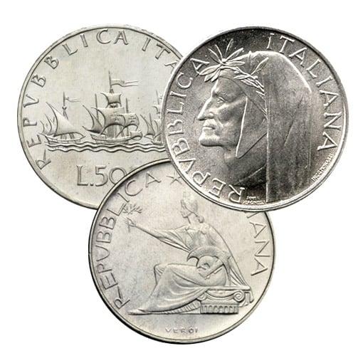 500 lire argento tris
