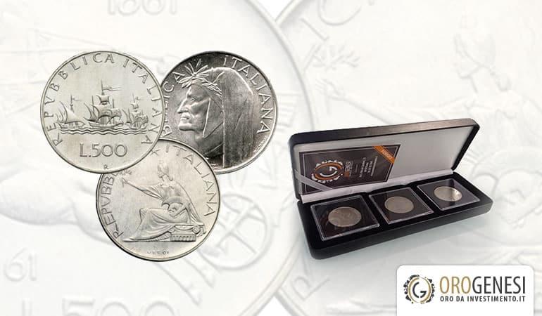 500 lire argento cofanetto